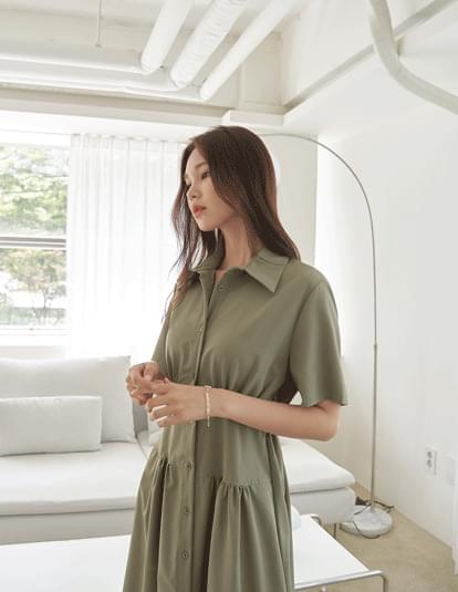 plant shirt Dress