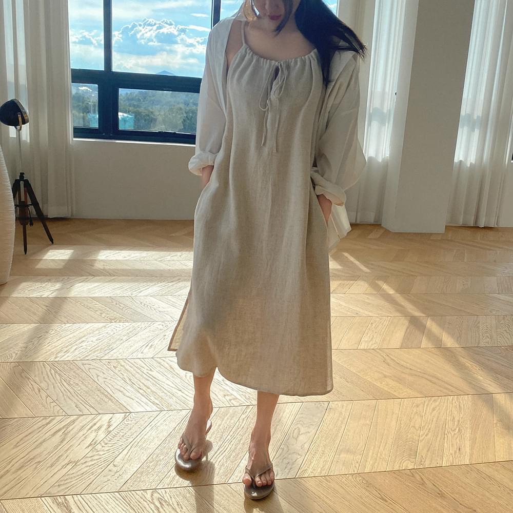 Itsummer linen Dress