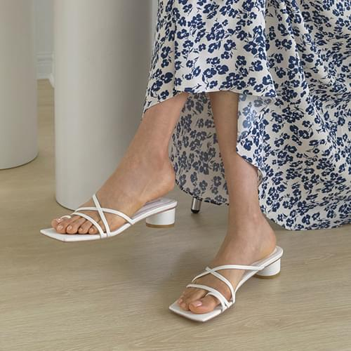 tennedy strap mules slippers