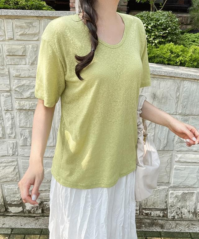 Big Size 55-99 Chenni Slav Yu-Neck Short Sleeve Tee