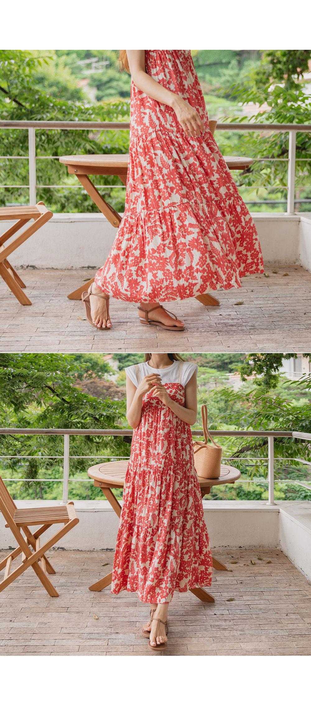 Coming Printing Long Dress