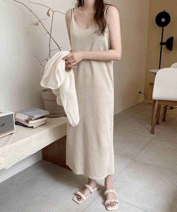 Orb Slip Knitwear Long Dress