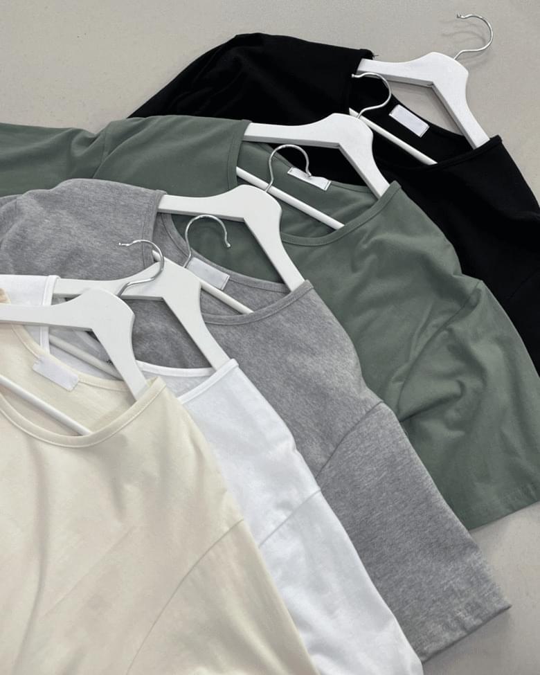 Premium U Neck Overfit Short Sleeve T-shirt