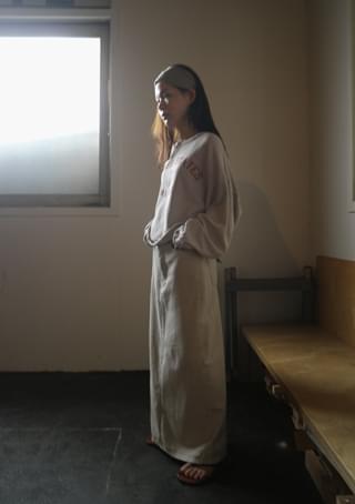 maxi soft cotton skirt
