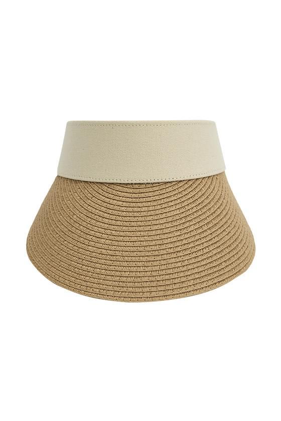 beach raffia sun visor