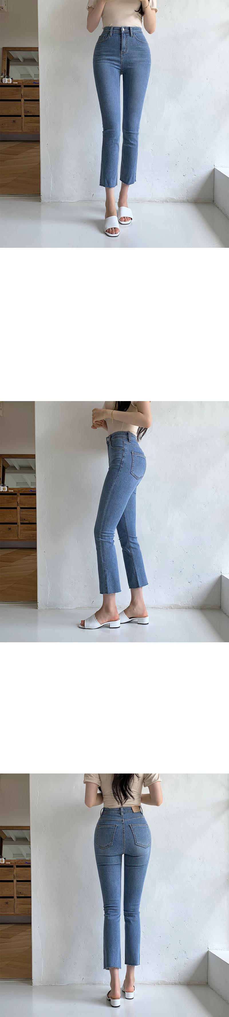 Ment Van Hai semi Flared denim trousers