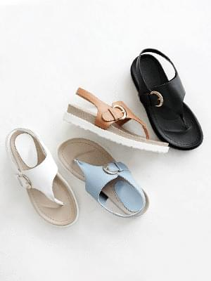 Anywhere leather sling bag sandals 4cm