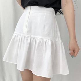 fringed cancan banding skirt
