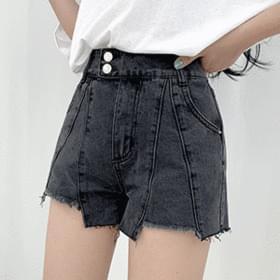 two button Split shorts