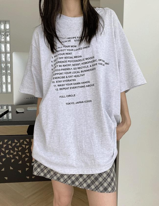 レシピのTシャツ
