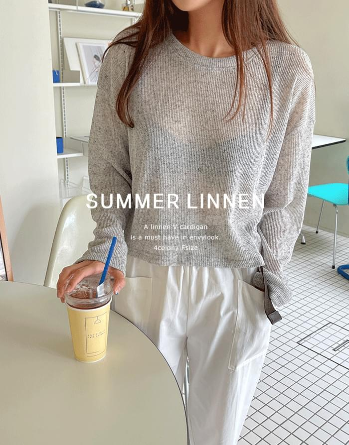 Coco Linen Long Sleeve Tee