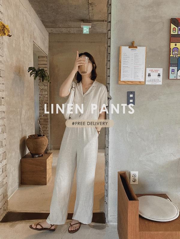 wig banding linen pants