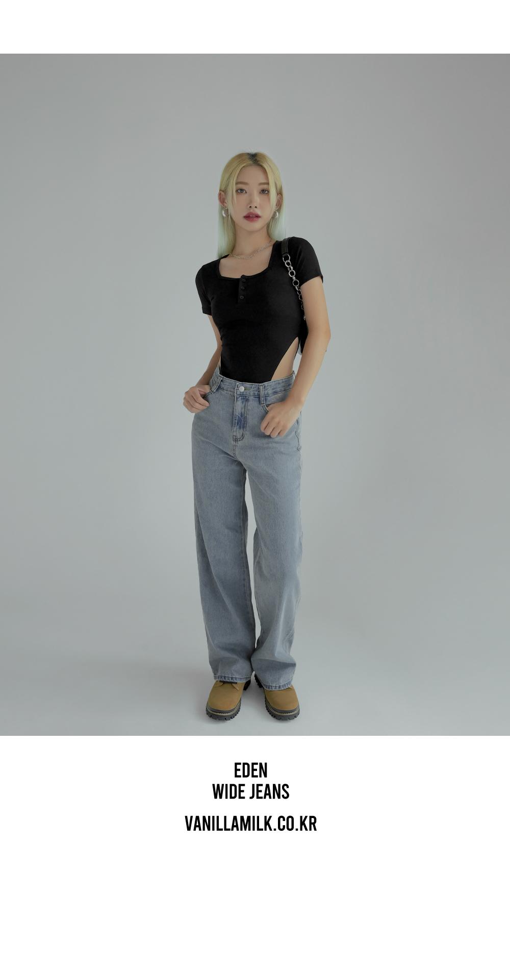 Edden wide denim trousers