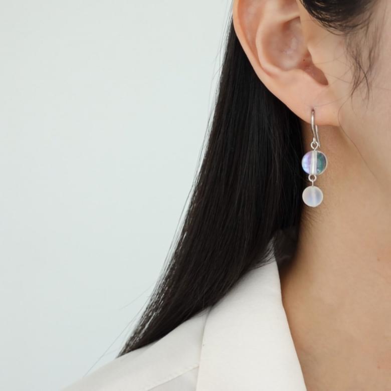 Clear Crystal Drop Nickel-Free Stitch Earrings