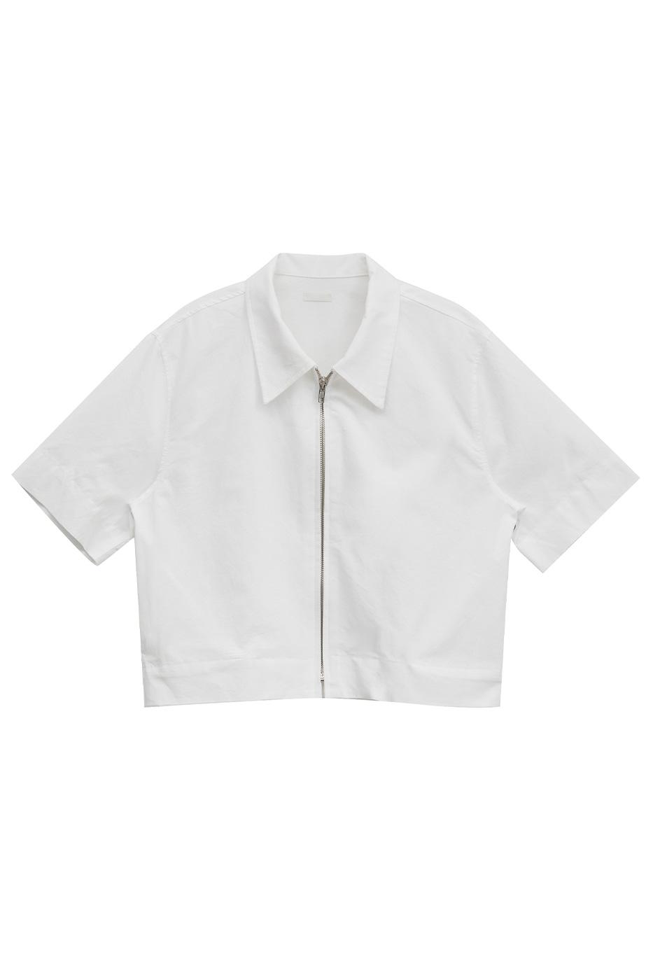 cylinder linen zip-up jacket