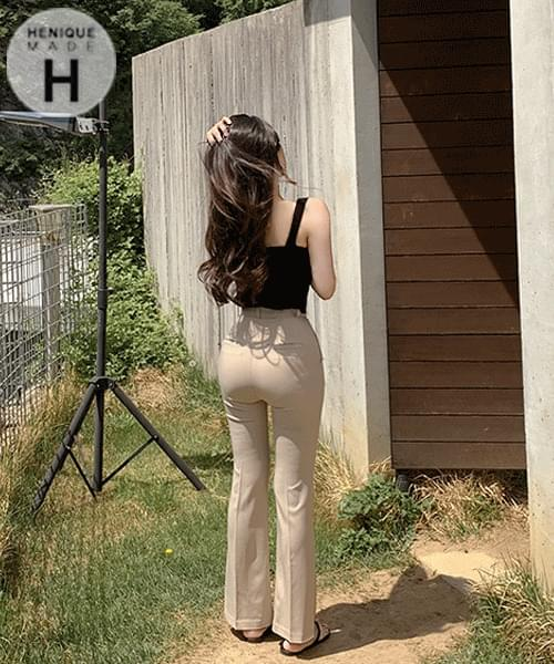 155cm This is the fit we love summer short Flared long slacks