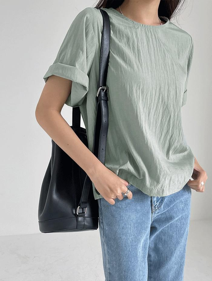 round ruffle blouse