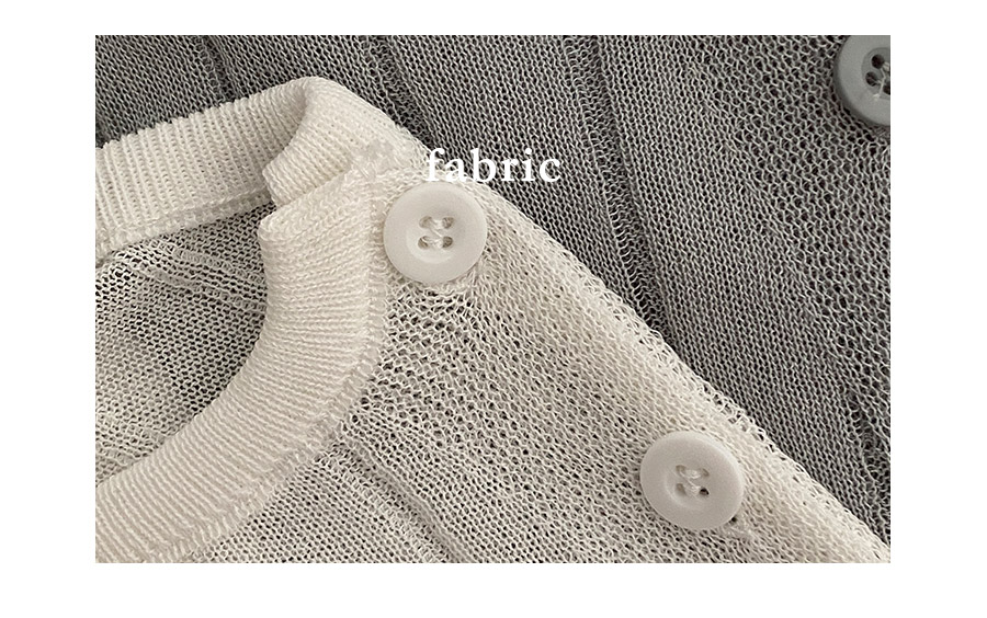 Terran side button Ribbed cropped cardigan