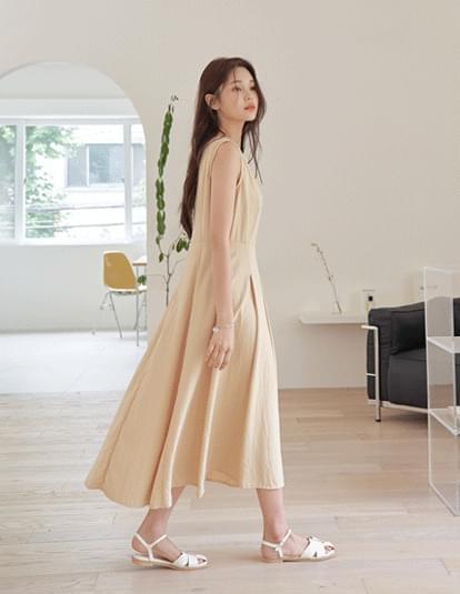 Rued Pintuck Dress