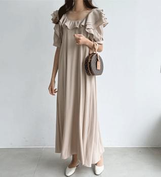 Romantic Ruffle Long Dress #38021