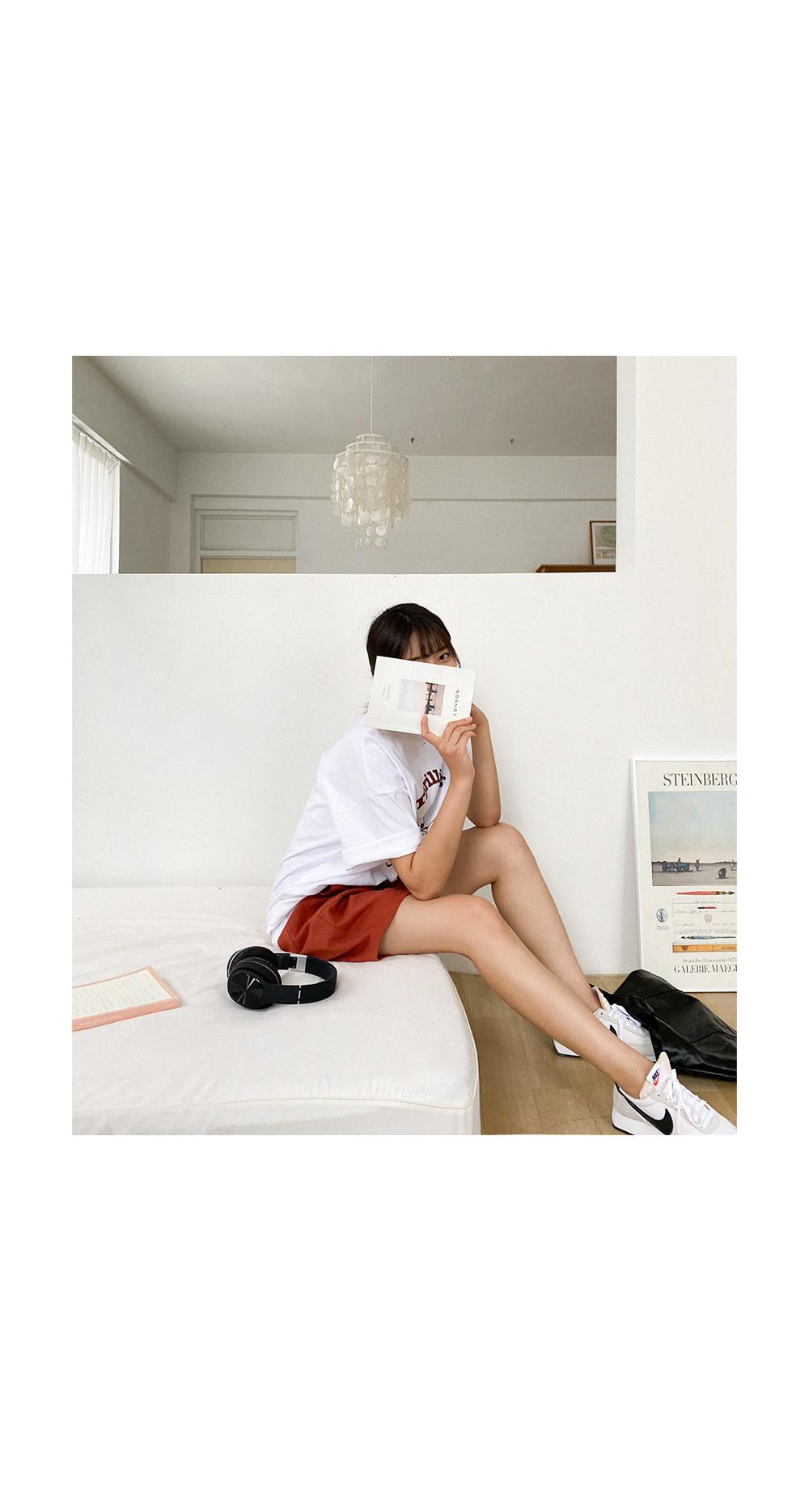 Big Size 55-120 Reading Overfit Short Sleeve T-shirt