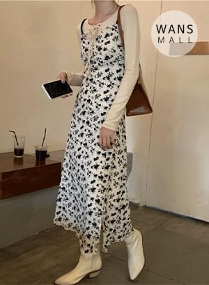 op5419 Vincent Flower Bustier Long Dress