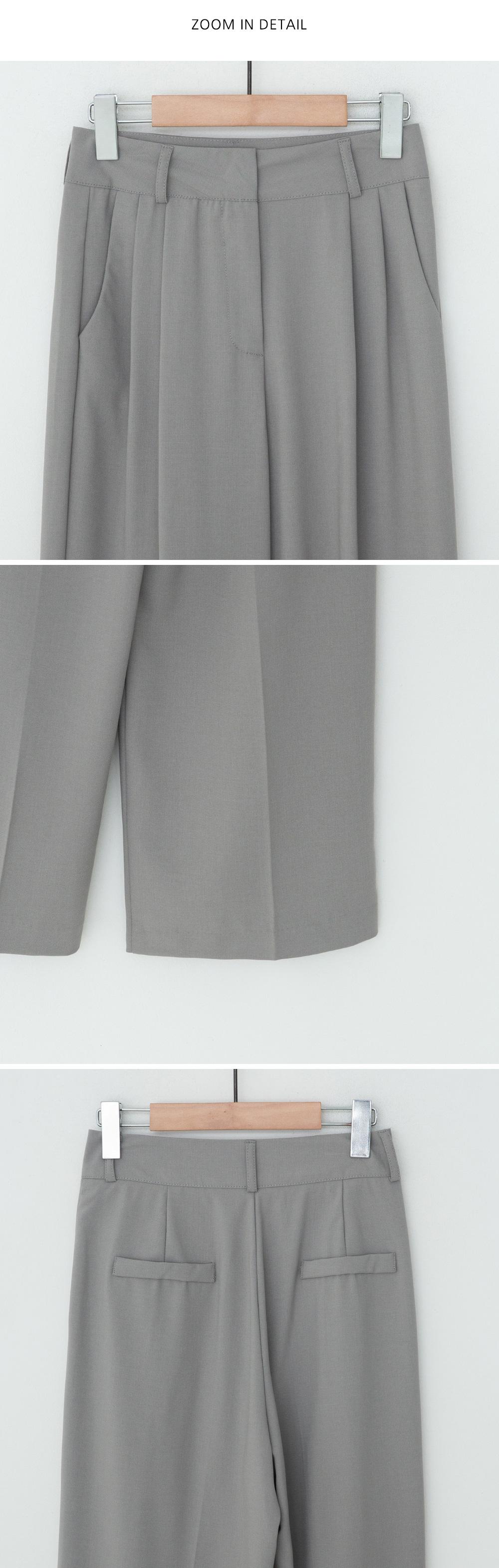 Liya two pin tuck wide slacks