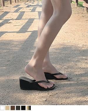 Women's Wedge Heel Short-Heeled Slippers
