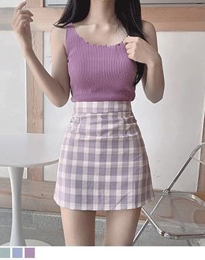 Kangri Pastel Check Skirt