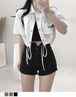 domi short sleeve cropped jacket
