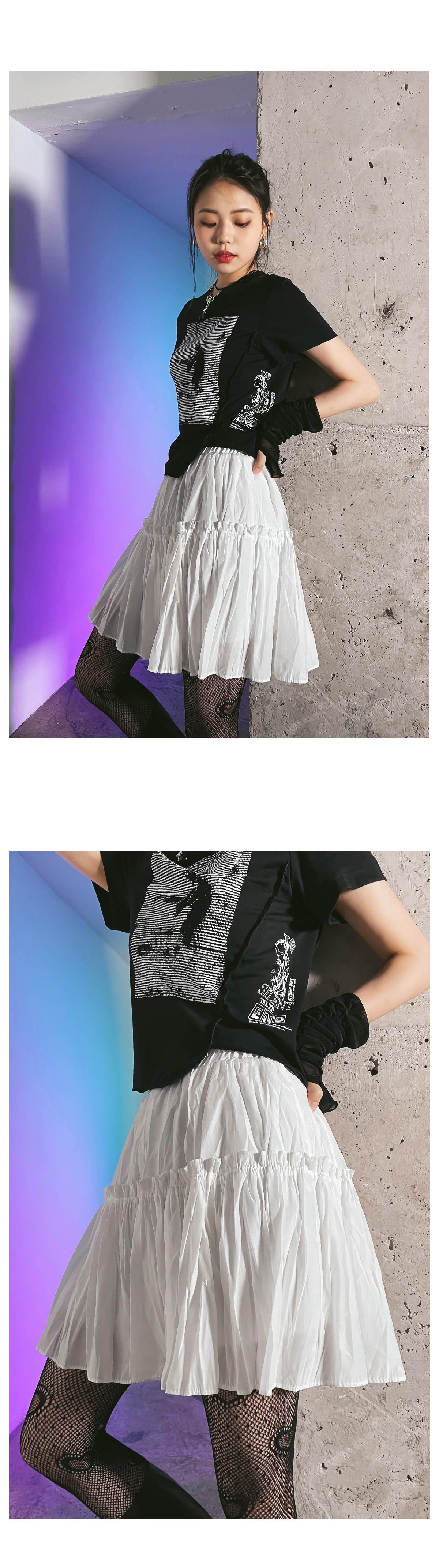 wrinkled poi miniskirt