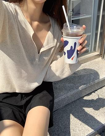 Nudio*Summer Long Sleeve Button Knitwear Tee