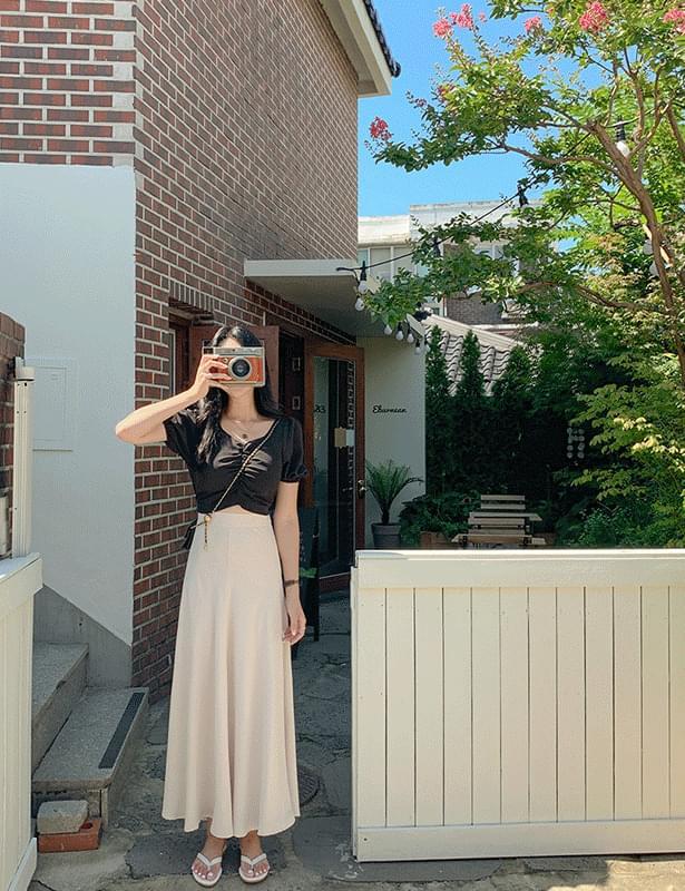 Bonnie Armor Maid Long Banding Skirt