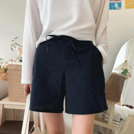 soy linen shorts