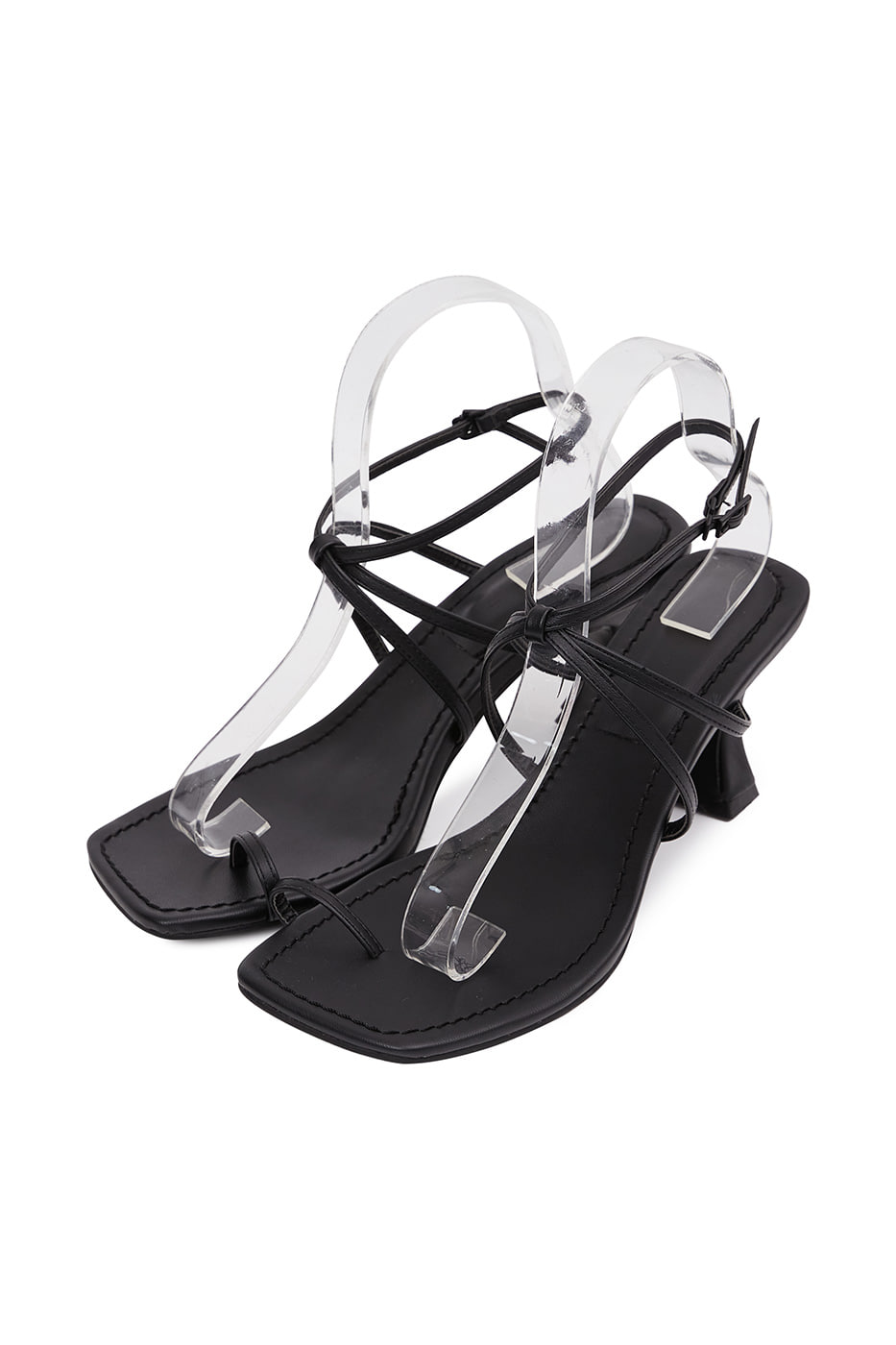 sense toe hold mid heel sandals