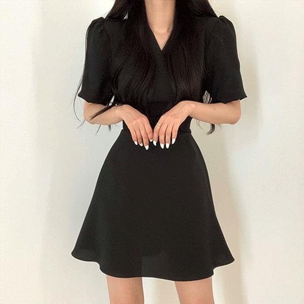 清純綁帶V領洋裝