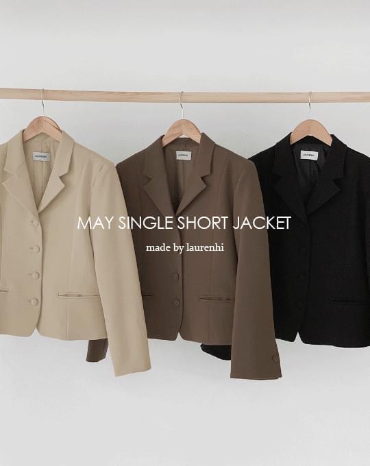 May Single Short Jacket - 3 color