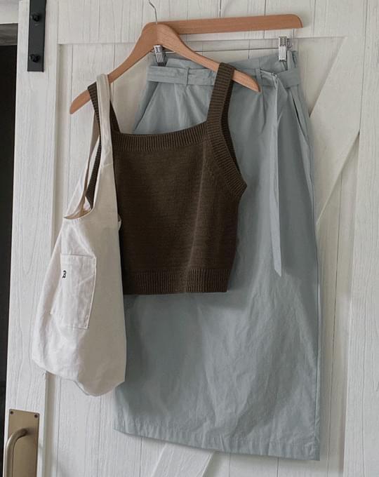 Brion Belt H-Line Long Skirt - 3 color