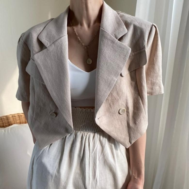 Casual Loose Basic Collar Short Sleeve Jacket