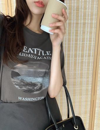Siany*Printing Short Sleeve Tee