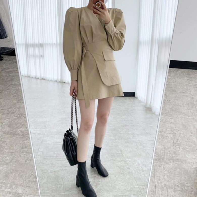 French Basic Belt Suit Dress