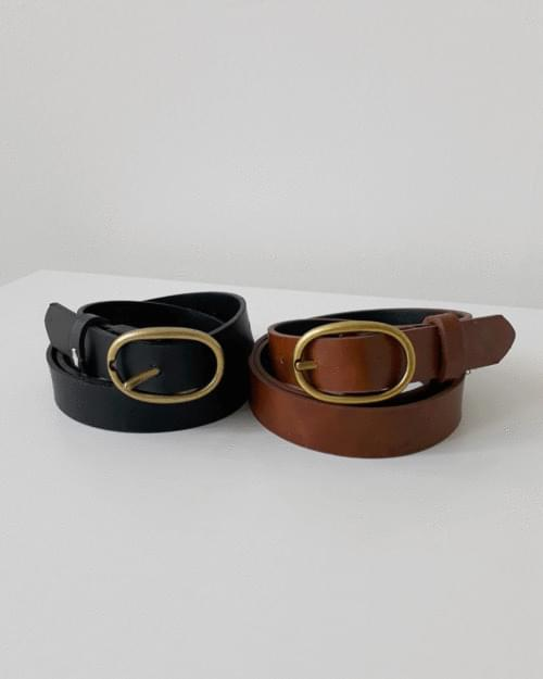 Closed Round Leather Vintage Leather Belt