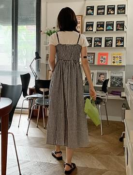 Jenny gingham check layered Dress
