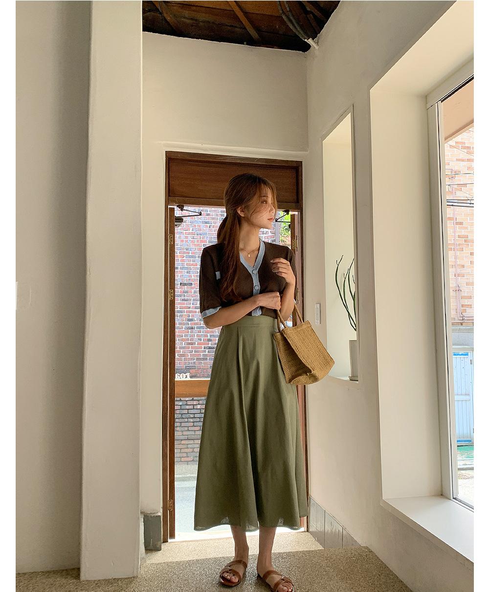 Linen Spoon A Long Skirt