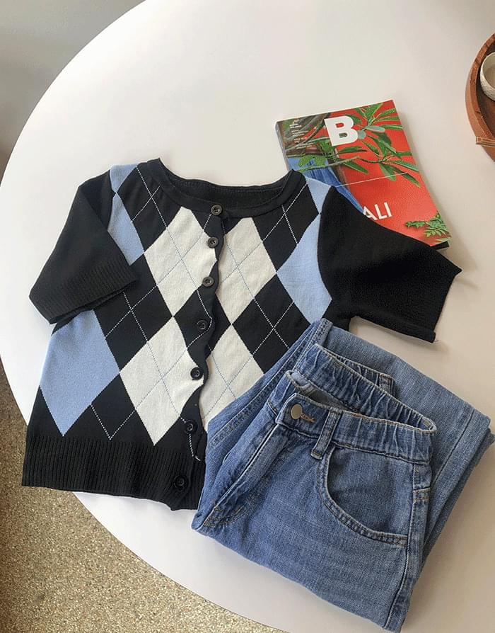 Cain Argyle Cardigan Knitwear