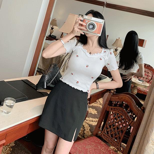 rock strap mini skirt