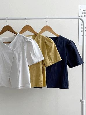 Unfired two-button blouse