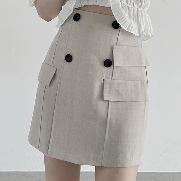 florence button skirt