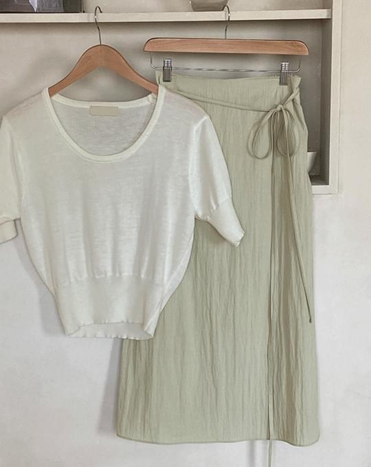 Yveden Nylon Long Skirt - 3 color