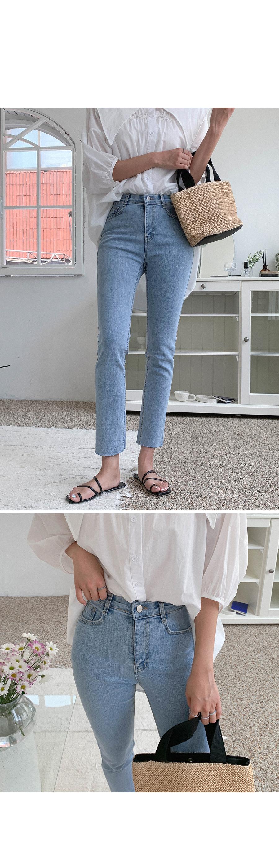 Slim Date Denim Pants